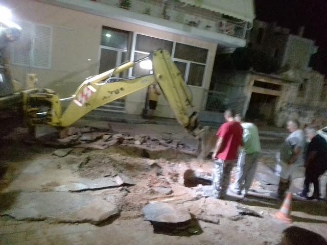 Ολονυχτίες εργασίες για την αποκατάσταση αγωγού ύδρευσης στο Άργος