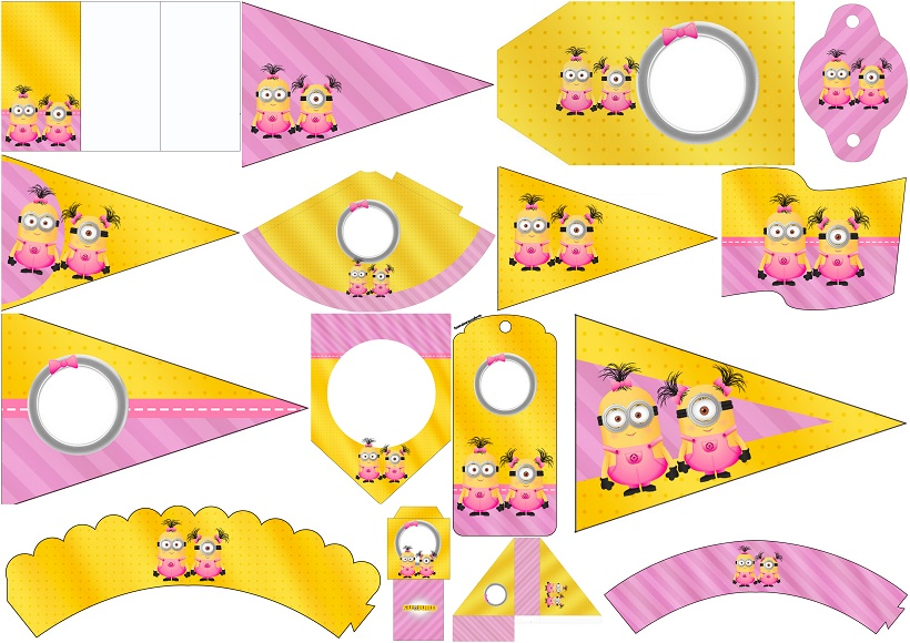 Minion Girls:Free Party Printables. | Oh My Fiesta! in english