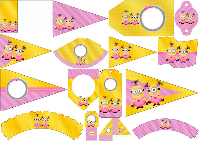 Minion Girls:Free Party Printables. | Is it for PARTIES? Is it FREE ...