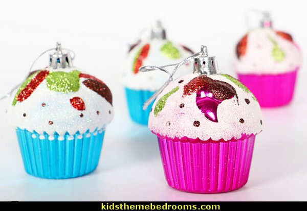 Cupcake Ornaments Hanging Pendants for Christmas Tree Christmas Party Decor