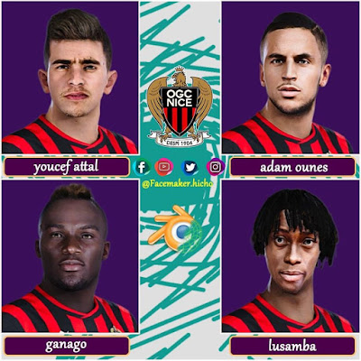 PES 2020 Facepack OGC Nice by Hicho