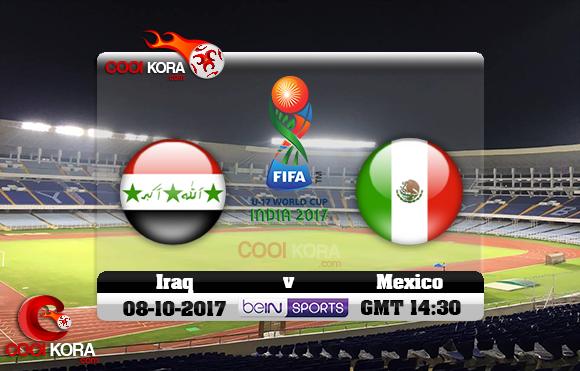 مشاهدة مباراة العراق والمكسيك اليوم 8-10-2017 كأس العالم تحت 17 سنة