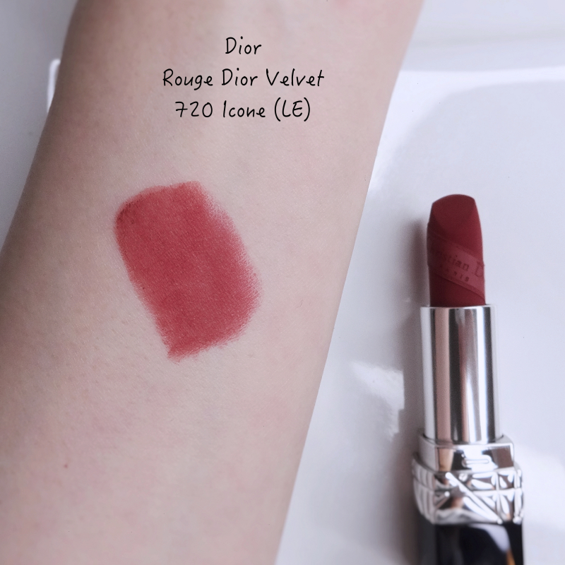 Dior LE Rouge Dior Velvet 720 Icone swatch