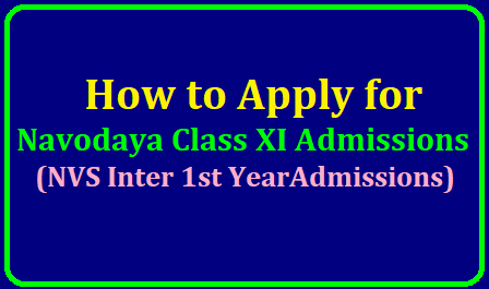 How to Apply for Navodaya Class XI Admissions ( Inter 1st Year Admissions)/2019/06/how-to-apply-for-navodaya-class-xi-admissions-www.nvsadmissionclasseleven.in.html