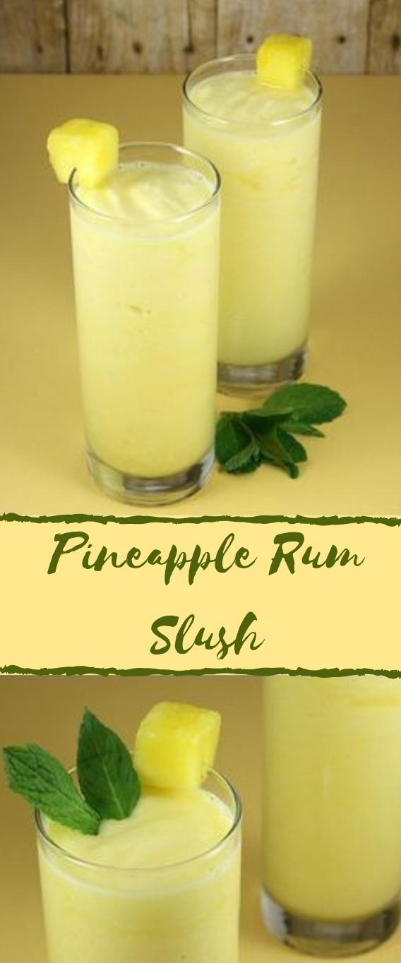 PINEAPPLE RUM SLUSH #pineapple #drink #coktail #margaritas #smoothie