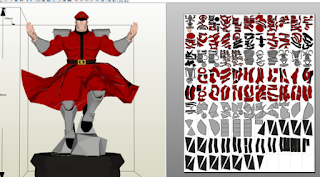 m.bison, papercraft, rondipaper, streetfight,