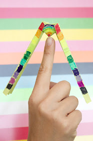 easy instructions showing how to fold balancing origami for kids