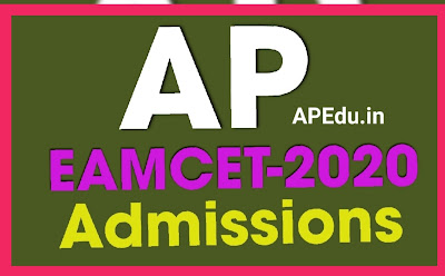 AP EAMCET-2020 Admissions: Detailed Notification for Exercising Options Entry Schedule.