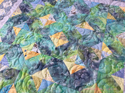 June's Blue and Yellow Batik Baby Quilt