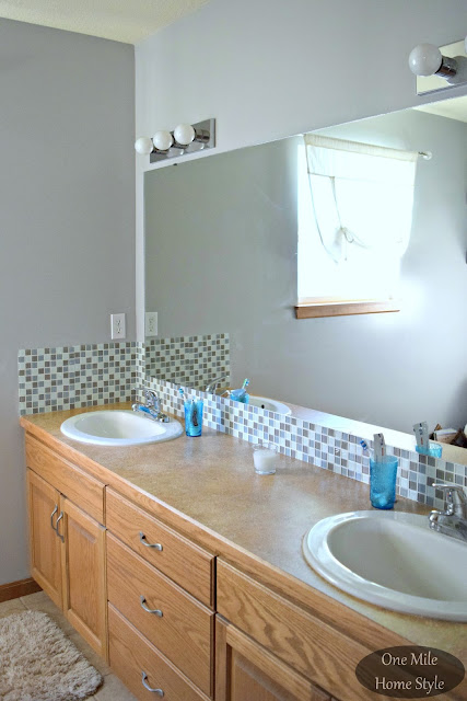 How I Made-Over My Bathroom for Under $100 - One Mile Home Style