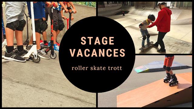stage vacances roller skate trottinette freestyle skatepark rampe
