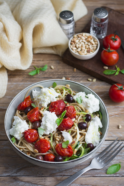 Salade de spaghetti et de courgettes