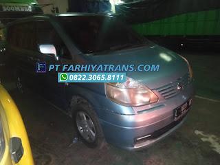 Kirim Mobil Nissan Serena dari Surabaya tujuan ke Sampit door to door dengan kapal roro dan driving, perkiraan perjalanan 2 hari..