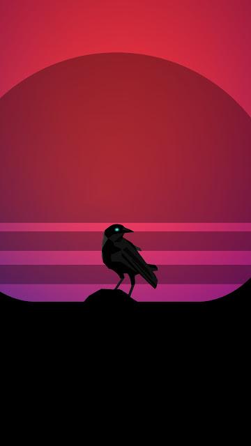Bird Synthwave 4k HD