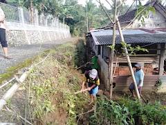 Menjaga Kesehatan Lingkungan Dimasa Pandemi Covid-19, Koramil 09/Somagede Adakan Karya Bhakti