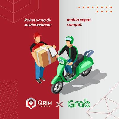 Kolaborasi QRIM Express dan GrabExpress.