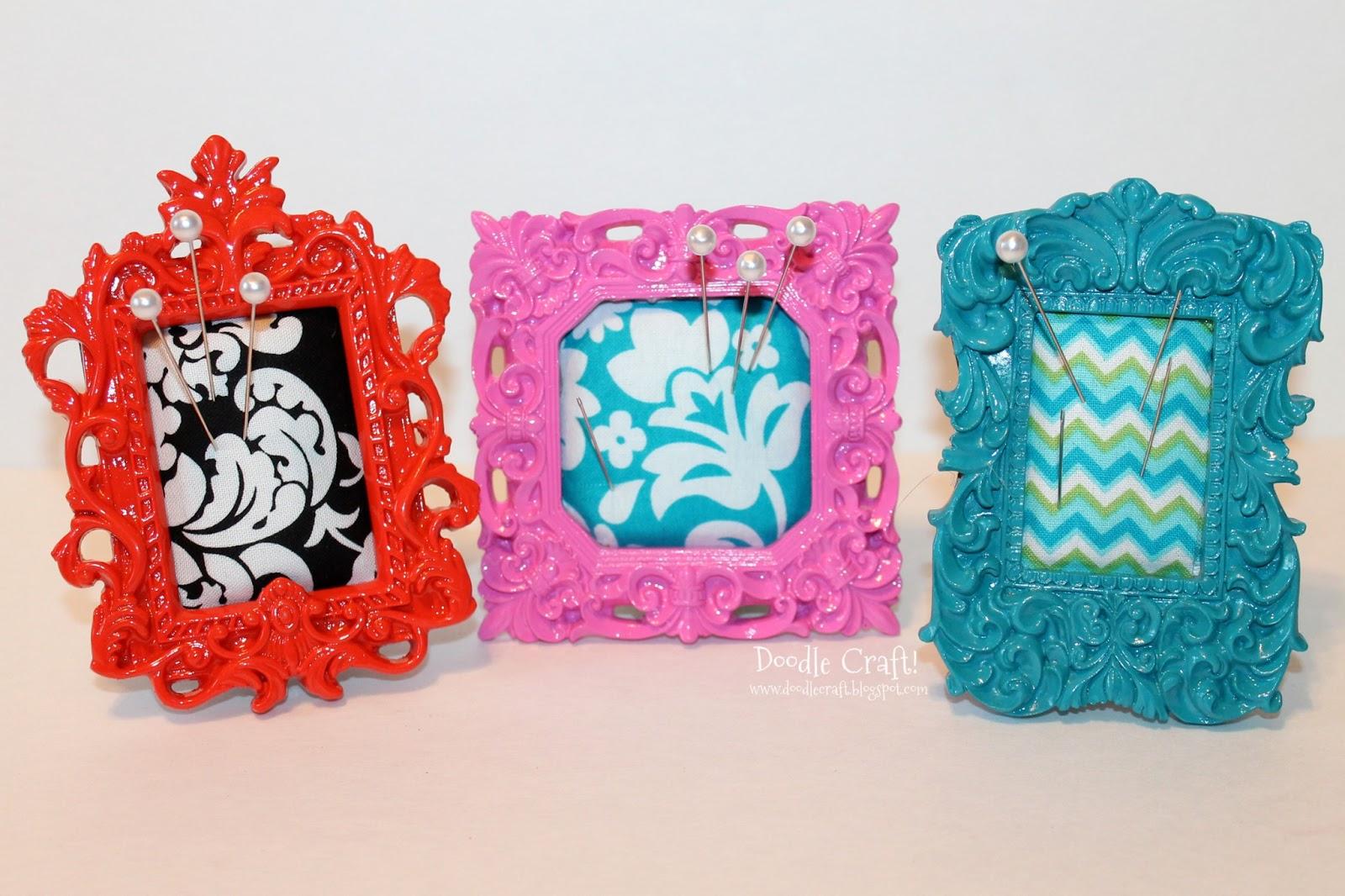 Doodlecraft: Mini Ornate Frame Pincushions!