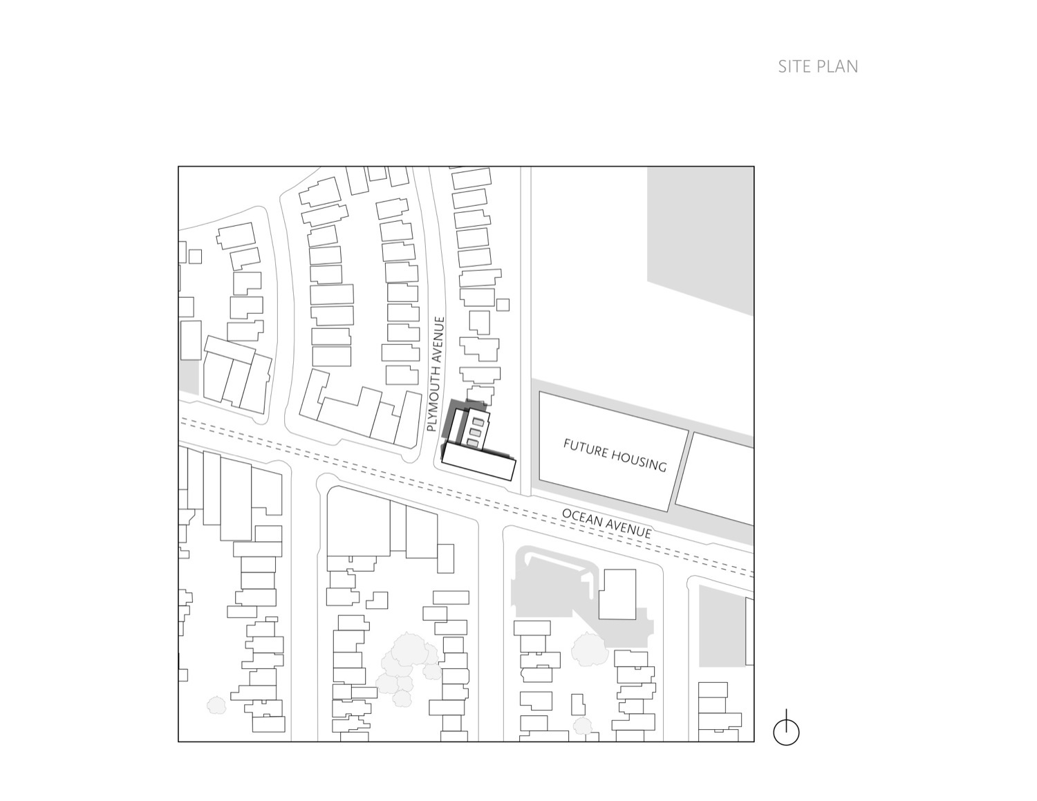 Site plan drawing © courtesy of fougeron architecture