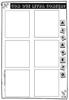Atividade interativa para educação infantil - alfabeto