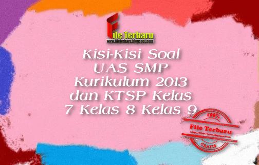 Kisi-Kisi Soal UAS SMP Kurikulum 2013 dan KTSP Kelas 7 Kelas 8 Kelas 9