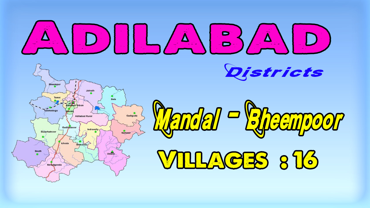 Bheempoor Mandal Villages In Adilabad District Telangana