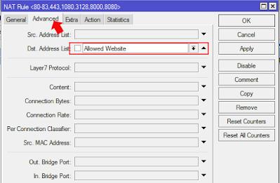 Blok Web Browsing Menggunakan Router Mikrotik