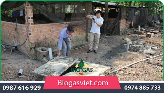 xây dựng 1 hầm biogas