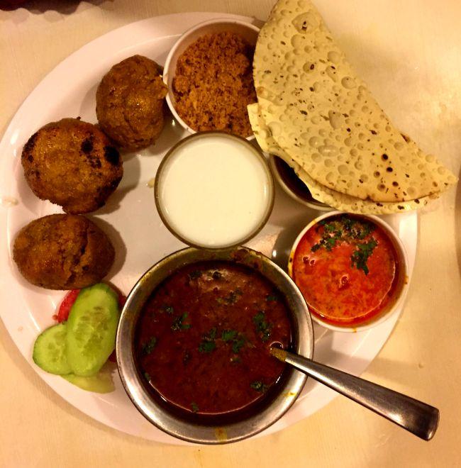 Dal Bati Choorma at Natraj Dining Hall Udaipur