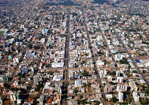 Imagem aérea de Chapecó