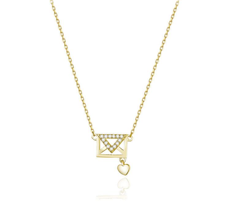 情書 925純銀鋯石項鍊