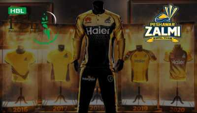 Official kit for PSL 2021 Peshawar Zalmi Unveils