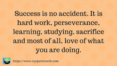 Success is no accident. It is hard word, | quotes for instagram