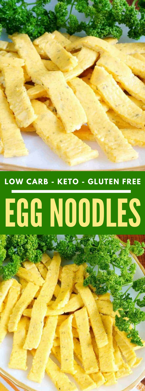 Keto Noodles – Low Carb Egg Noodles #diet #healthy