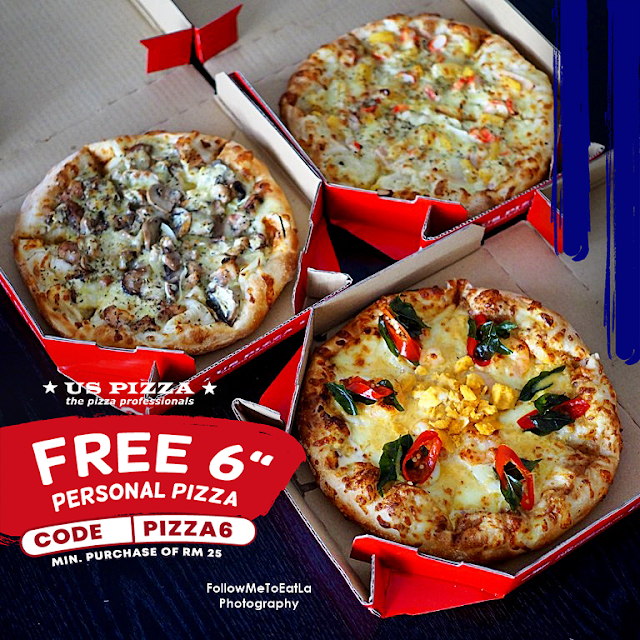 """US PIZZA Offers FREE 6"""" Personal Pizza With PROMO CODE """"PIZZA6"""""""