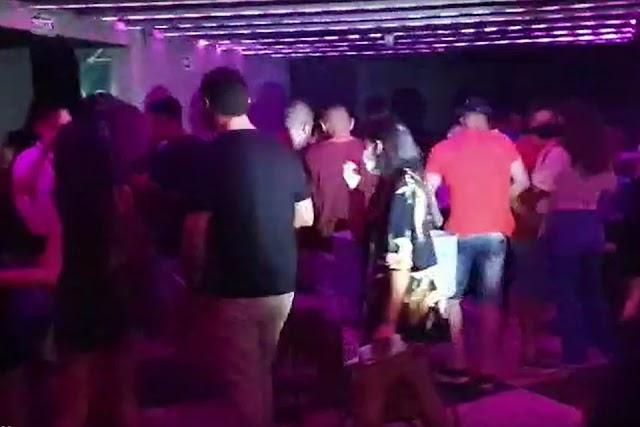 Um Vídeo: DF Legal interdita e multa boate com mais de 80 pessoas, isso aconteceu no Setor Central do Gama
