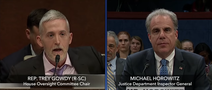 Trey Gowdy Questions IG Horowitz on FBI/DOJ Corruption