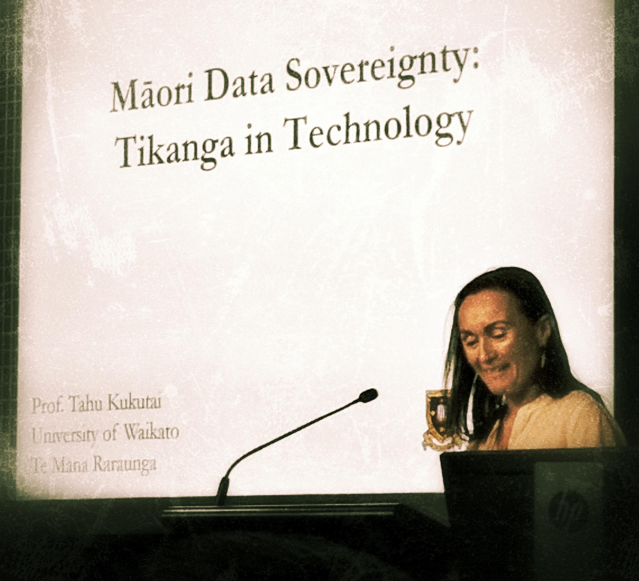 Professor Tahu Kukutai presents at the 2018 NZ Data Summit