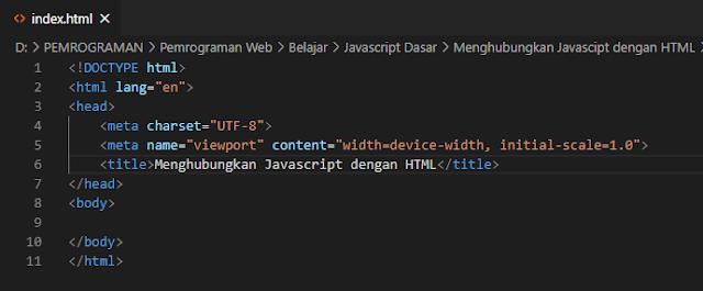 Cara Menghubungkan Javascript dengan HTML diantara tag head