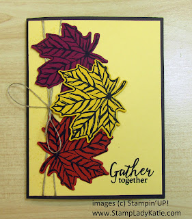 Fall leaf card made with Stampin'UP!'s Gathered Leaf Dies and Gather Together Stamp Set part of the Gather Together Bundle