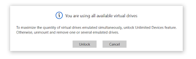 Fixing - DAEMON Tools - You are using all available virtual drives.