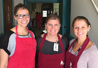 Utica College volunteers Dana, Kiersten and Alyssa