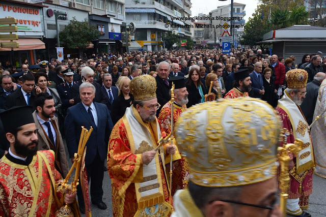 Ο Παναγιώτης Ψωμιάδης στην Κατερίνη για το εορτασμό της Αγίας Αικατερίνης