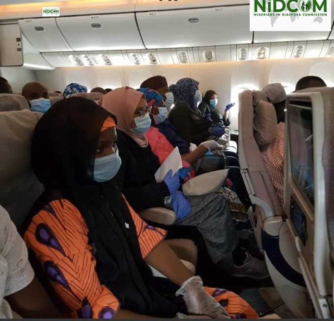 JUST IN: 300 Stranded Nigerians In UAE Land In Abuja (Photos)