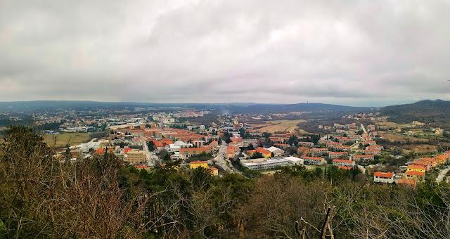Pogled na novi Labin iz starog grada