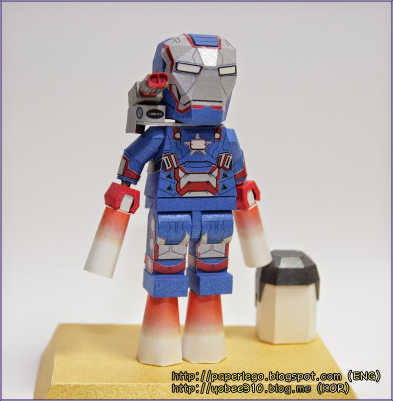 Lego Iron Patriot Papercraft