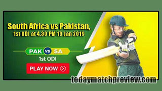 Today 1st ODI Match Prediction Pakistan vs South Africa