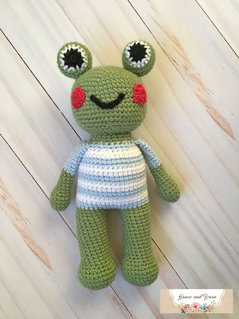 Marshall The Frog A Free Crochet Pattern Grace And Yarn