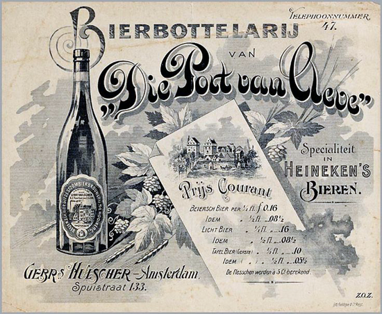 Heineken price list 1900s