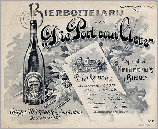 Heineken price list 1900s