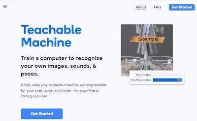 Google Teachable Machine Screen shot